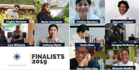 Finalistas Basque Culinary World Prize 2019